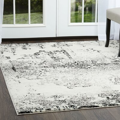 Brees Medallion Ivory/Gray Area Rug Rug Size: Rectangle 52 x 72