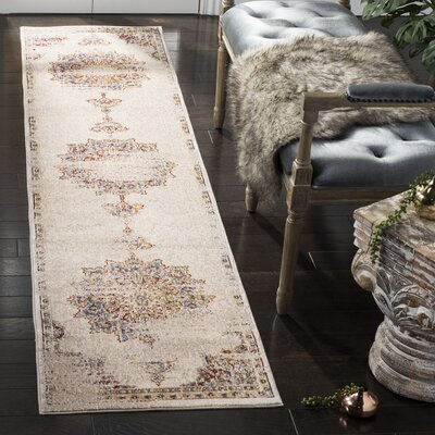 Andy Cream Area Rug Rug Size: Runner 2 x 8