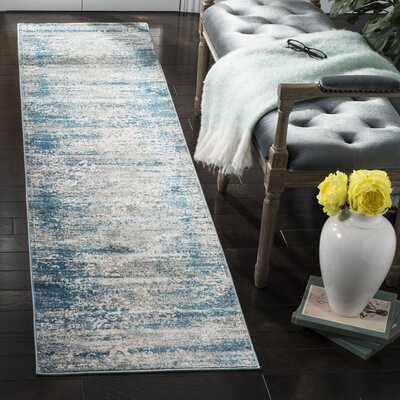 Andy Blue Area Rug Rug Size: Runner 2 x 8