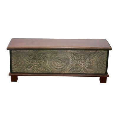 Eriq Trunk Coffee Table Size: 21.5 H x 53.5 W x 24 D, Table Base Color: Gray