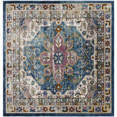 Andy Blue Indoor Area Rug Rug Size: Square 65