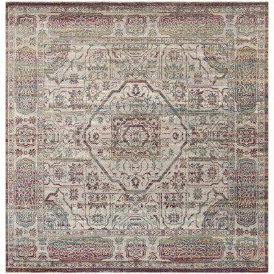 Andy Red Area Rug Rug Size: Square 65