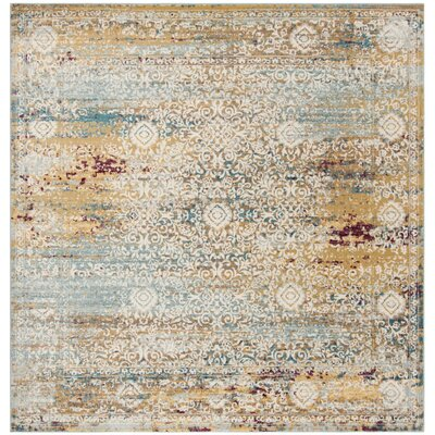 Andy Yellow Area Rug Rug Size: Square 6'5