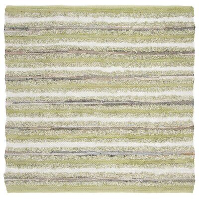 Bester Hand-Woven Cotton Green Area Rug Rug Size: Square 6