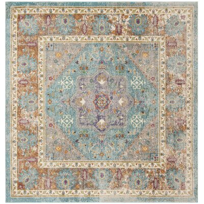 Andy Blue Area Rug Rug Size: Square 67
