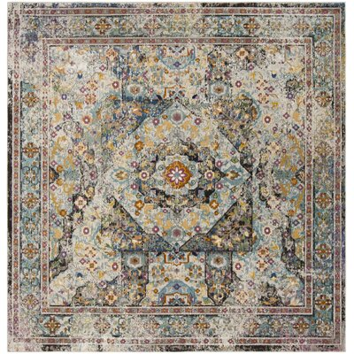 Andy Blue Area Rug Rug Size: Square 65