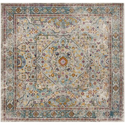 Andy Cream Area Rug Rug Size: Square 6'5