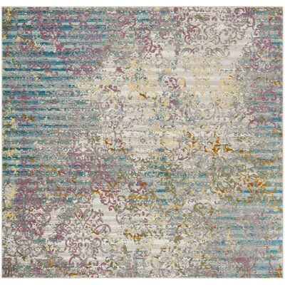 Andy Fuchsia/Ivory Area Rug Rug Size: Square 65 x 65