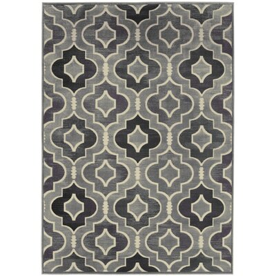 Saint-Michel Gray/Purple Area Rug Rug Size: Rectangle 53 x 76