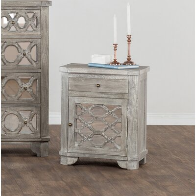 Theodora 1 Drawer Nightstand