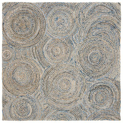 Abhay Hand Woven Gray/Blue Area Rug Rug Size: Square 6