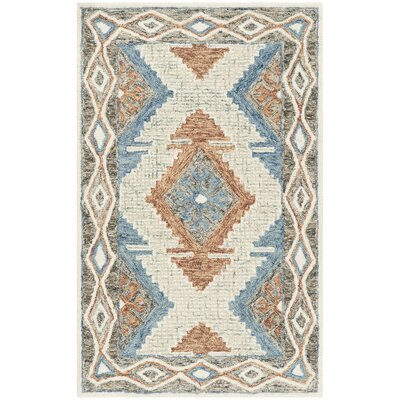 Sebrite Hand Tufted Wool Blue Area Rug Rug Size: Rectangle 26 x 4