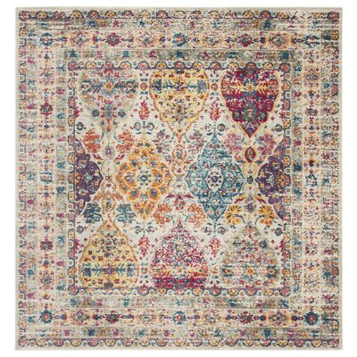 Doucet Pink/Cream Area Rug Rug Size: Square 67