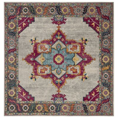 Doucet Cream/Pink Area Rug Rug Size: Square 67