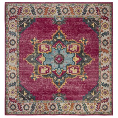 Doucet Pink/Blue Area Rug Rug Size: Square 67