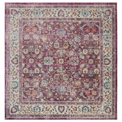 Doucet Red/Gray Area Rug Rug Size: Square 67