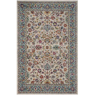Doucet Cream/Blue Area Rug Rug Size: Rectangle 9 x 12