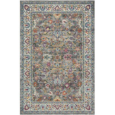 Doucet Gray/Pink Area Rug Rug Size: Rectangle 8 x 10
