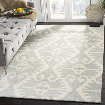 Kouerga Gray/Ivory Area Rug Rug Size: Rectangle 5 x 8