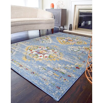 Ciotti Tribal Blue Area Rug Rug Size: Rectangle 8 x 10