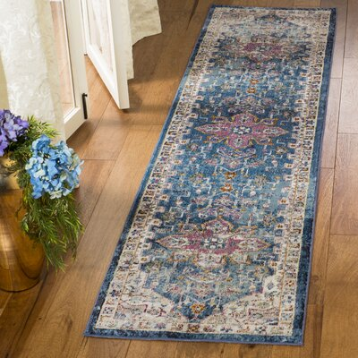 Andy Blue Indoor Area Rug Rug Size: Runner 2 x 8