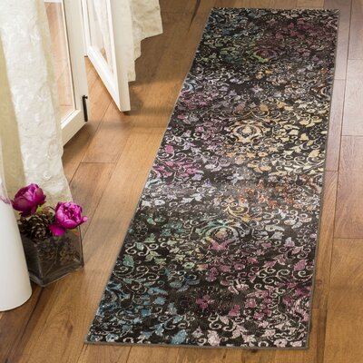 Andy Brown Area Rug Rug Size: Runner 2 x 8
