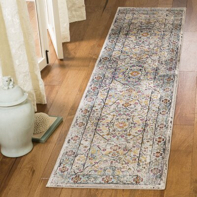 Andy Cream Area Rug Rug Size: Runner 2' x 8'