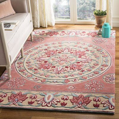 Eatonville Hand Tufted Wool Red Area Rug Rug Size: Rectangle 5 x 8