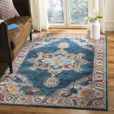 Doucet Blue/Orange Area Rug Rug Size: Runner 2 x 6