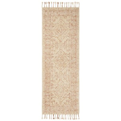 Chancellor Hand-Tufted Wool Ivory Area Rug Rug Size: Runner 23 x 9