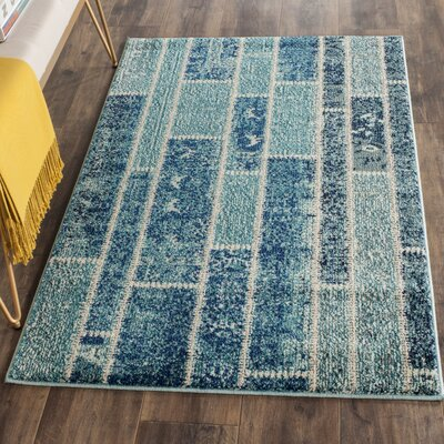 Lobardy Blue Area Rug Rug Size: Rectangle 3 x 5