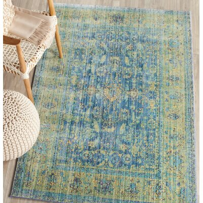 Doline Blue/Yellow Area Rug Rug Size: Rectangle 8 x 10