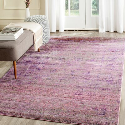 Doline Purple Area Rug Rug Size: Rectangle 4 x 6