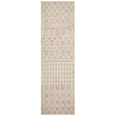 Betancourt Hand-Woven Wool Beige/Ivory Area Rug Rug Size: Runner 23 x 8