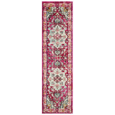 Kilina Fuchsia/Light Blue Area Rug Rug Size: Runner 22 x 8