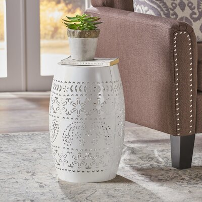Ifrane Accent End Table Color: White