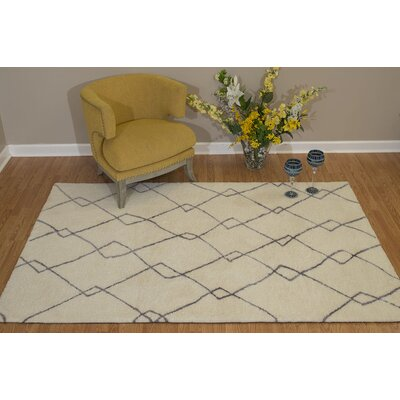 Pisano Silver Gray/Ivory Area Rug Rug Size: Rectangle 53 x 72
