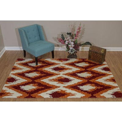 Pisano Cherrystone Red Area Rug Rug Size: Rectangle 53 x 72