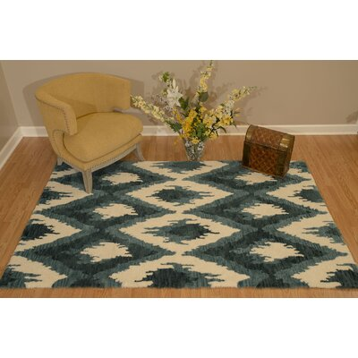 Pisano Denim Blue Area Rug Rug Size: Rectangle 53 x 72