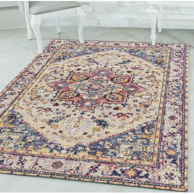 Dietz Cream Area Rug Rug Size: Rectangle 126 x 15