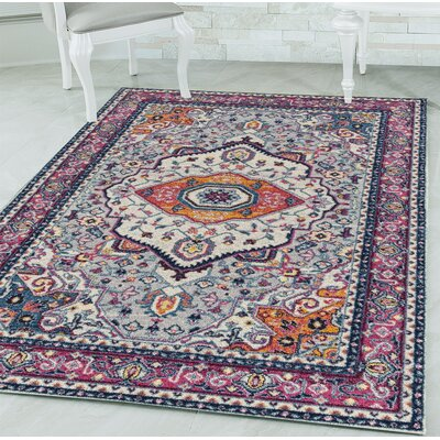 Dietz Magenta Area Rug Rug Size: Rectangle 710 x 106