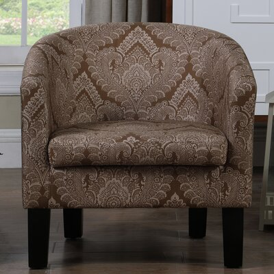 Livermore Barrel Chair Upholstery: Amber Bown