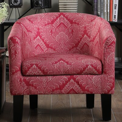 Livermore Barrel Chair Upholstery: Rosy Pink