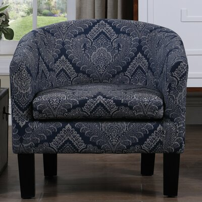 Livermore Barrel Chair Upholstery: Royal Blue
