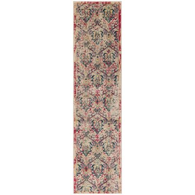 Bayshore Gardens Ivory Area Rug Rug Size: Runner 2 x 8