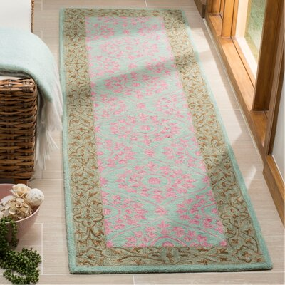 Tomo Hand-Hooked Taupe Area Rug Rug Size: Rectangle 23 x 8