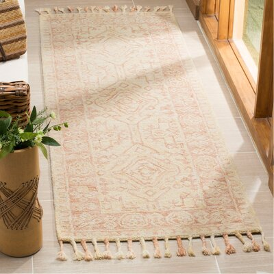 Chancellor Hand-Tufted Wool Ivory Area Rug Rug Size: Runner 23 x 7