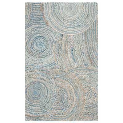 Abhay Boho Hand Woven Jute/Sisal Gray/Blue Area Rug Rug Size: Rectangle 3 x 5