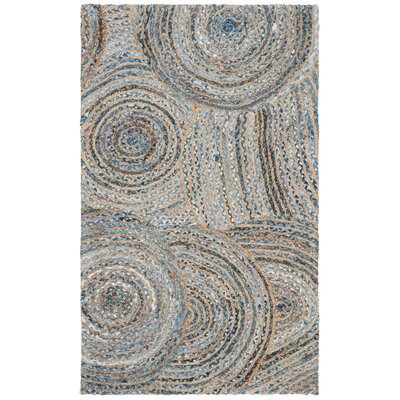 Abhay Hand Woven Gray/Blue Area Rug Rug Size: Rectangle 3 x 5