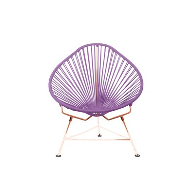 Borquez Papasan Chair Upholstery: Purple, Color: Copper
